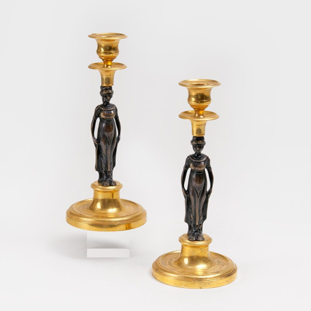 A Pair of Empire Candleholders