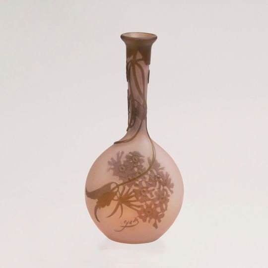A Small Gallé 'Solifleur' Vase with Umbles