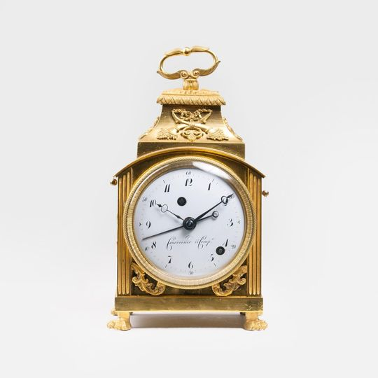 A Louis-Seize Officer's Clock 'Capucine' with Repitition