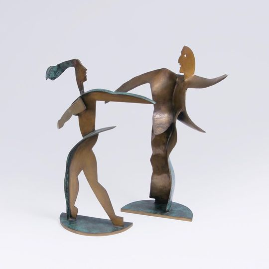 A Pair of  Figures 'Dancing Couple'