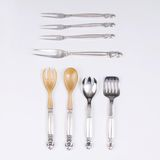 A Set of 6 Serving Forks and 1 Salad Cutlery Set 'Acorn'