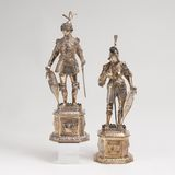 A Pair of splendid Knight-Figures 'King Arthur of England' and 'Theoderich, King of the Goths'