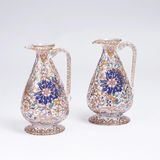 A Pair of Glass Carafes with Arabesques