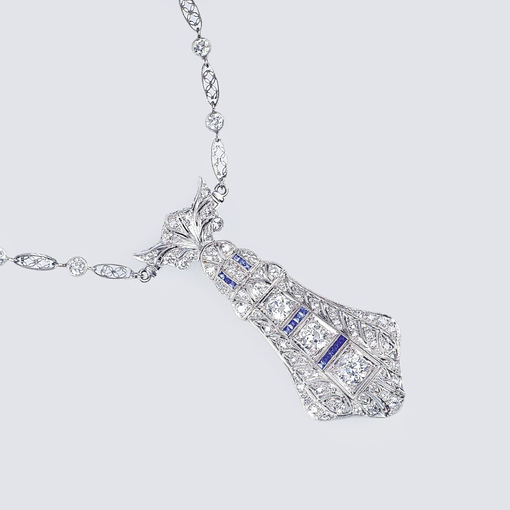 Langes Art-déco Diamant Collier