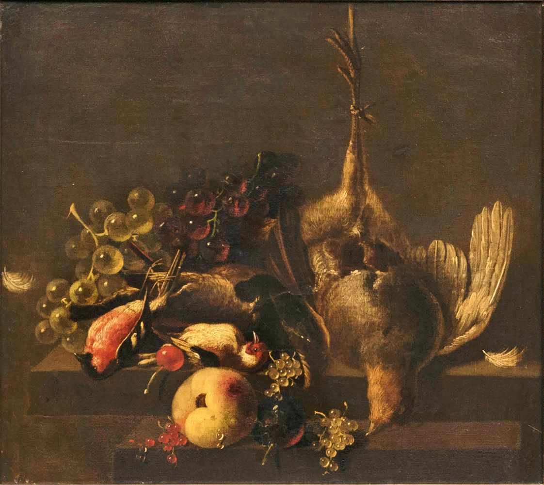 Still Life of Game with Birds and Fruits
