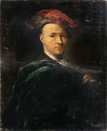 Portrait of a Gentleman with a red Baret