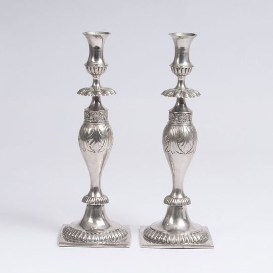 A Pair of Candlesticks from Wroclaw