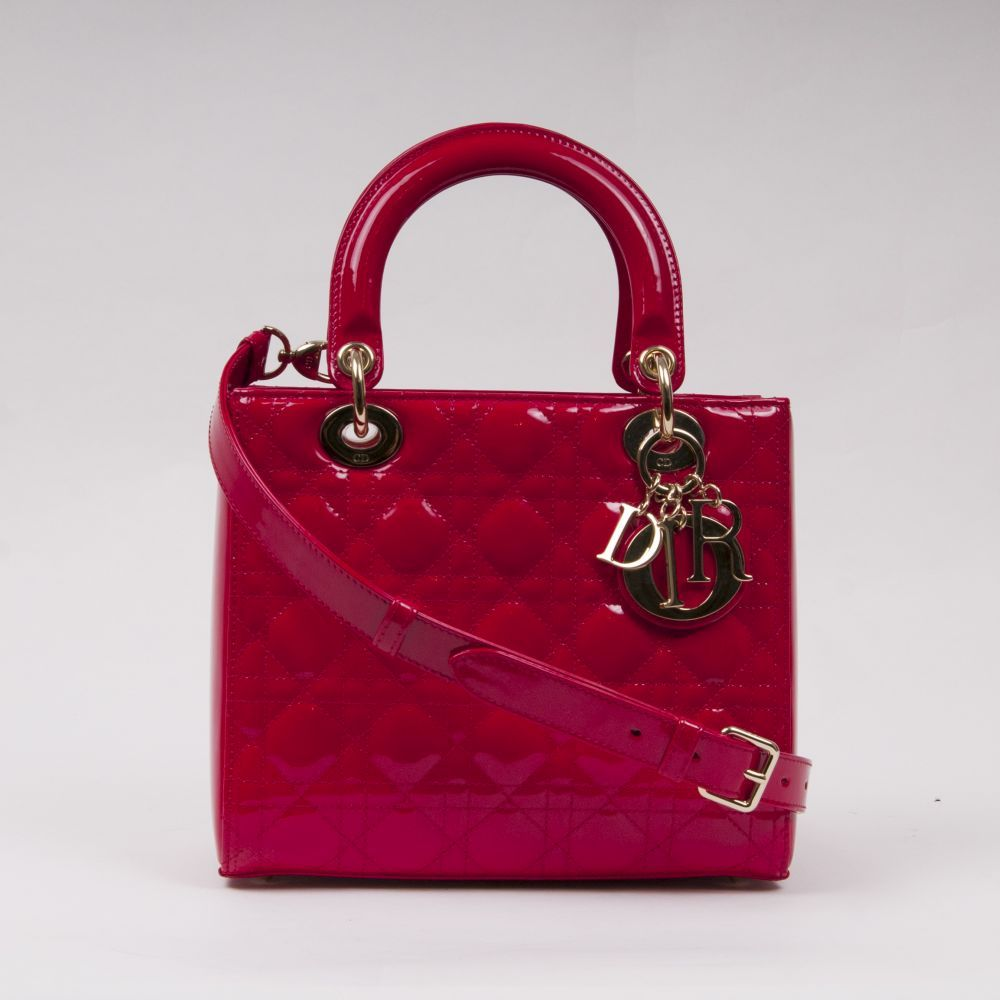Lady Dior Bag Kirschrot