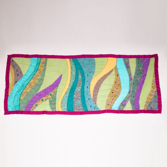 A Silk-scarf with Sequins