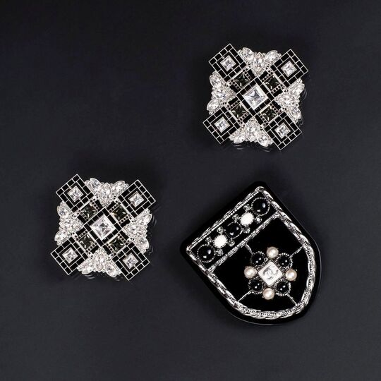 Three Brooches 'Black and White'