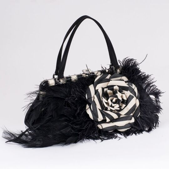 A Bag with Fabric Flower