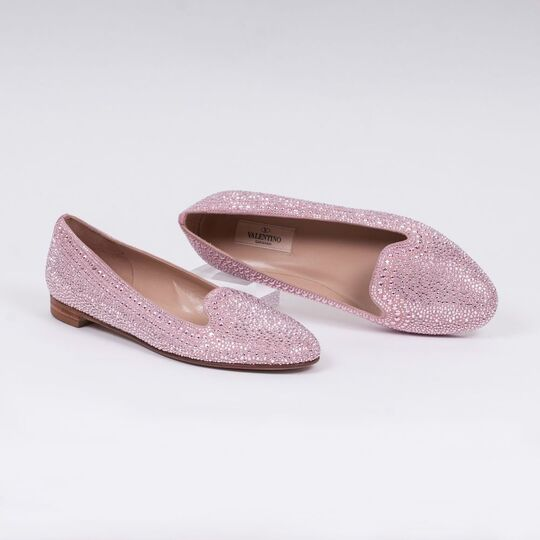 A Pair of Pink Ballerinas with Studs