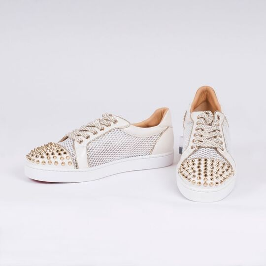 A Pair of Sneaker 'AC Vieira Spikes' Flat Latte - Light Gold