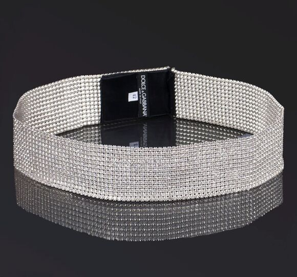 A wide Swarovski Crystal Belt