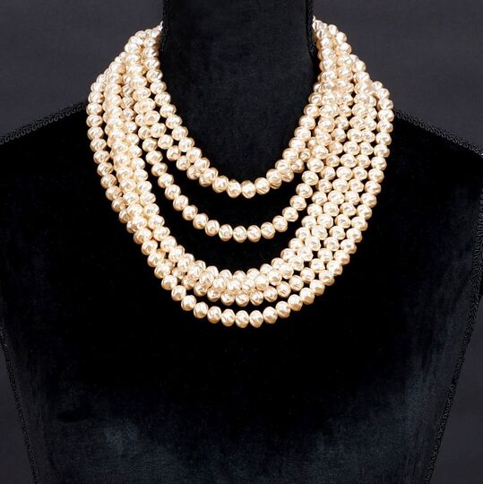 A Rive Gauche Faux Pearls Cascades Necklace
