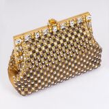 A Clutch with Strass and Studs