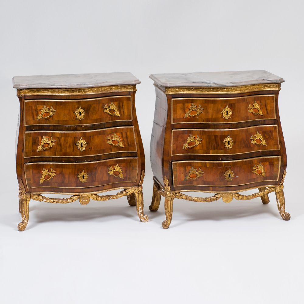 A rare Pair of Dansk Rococo Commodes