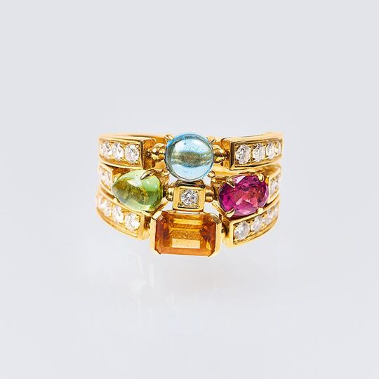 A Precious Stone Diamond Ring 'Allegra'