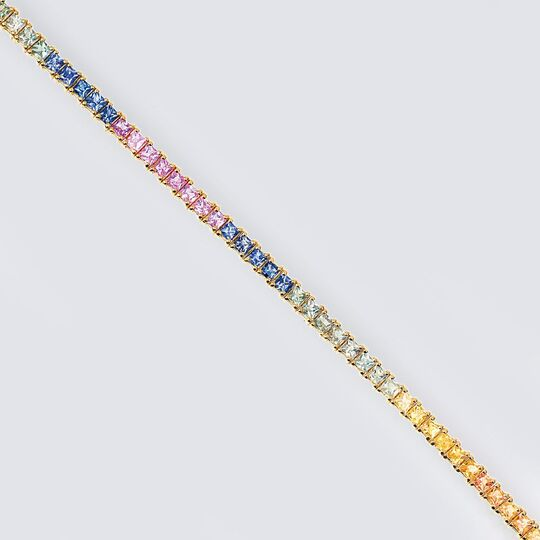 A Bracelet with multicoloured Sapphires