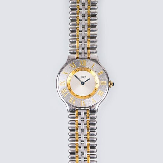 A Lady's Wristwatch 'Must De Cartier 21'